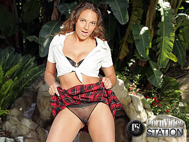 Schoolgirl Lexi Flashes Her Panties